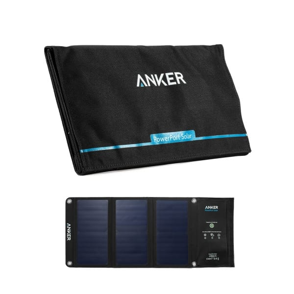 Anker PowerPort 21W portable solar charger for backpacking