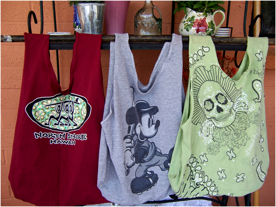 repurposed t-shirt bags