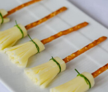 Cheese and Pretzel Broomstick