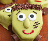 Frankenstein Pistachio Blondies