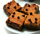 Pumpkin Peanut Butter Layer Brownies