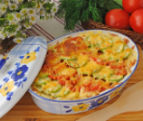 Easy Cheesy Zucchini and Tomato Casserole