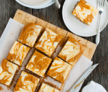 Marbled Pumpkin Cheesecake Bars