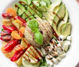 caprese salad grain bowl