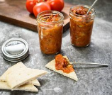 grilled tomato and bacon jam