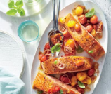 salmon with balsamic blistered tomatoes (1)