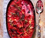 parsnip beetroot gratin