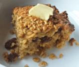 Cinnamon Rasin Oatmeal Bake
