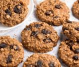 Healthy Banana Oatmeal Raisin Cookies