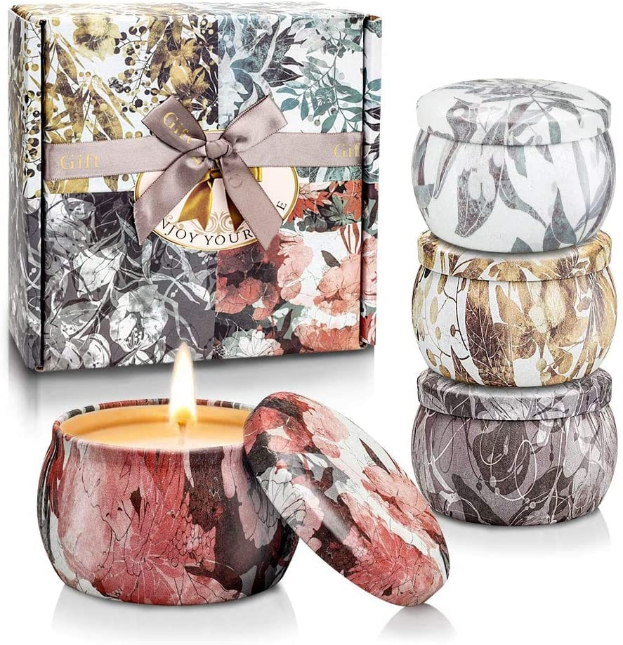 eco-friendly soy candles in tins cheap green gift