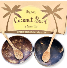 reclaimed cocnut bowls and spoons