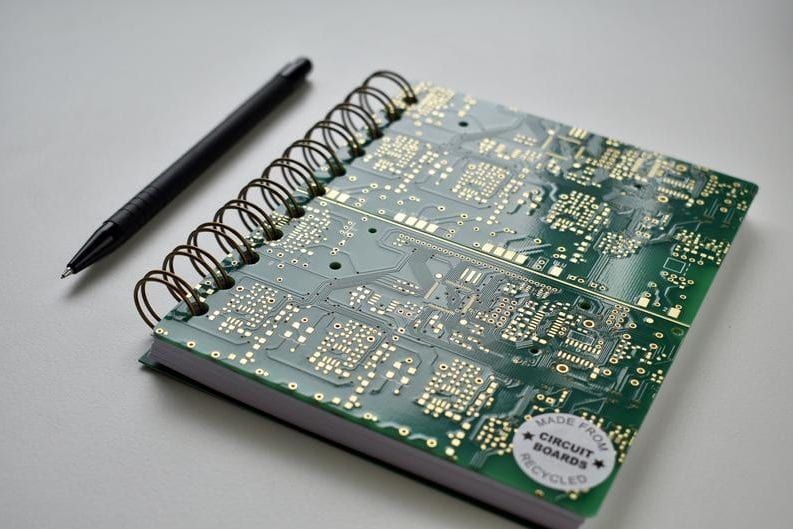 eco-friendly tech lover's gift circuit board notebook