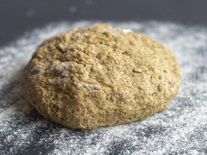 seeded bread dough